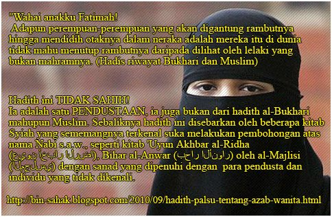 Fake Hadith - Women Hair Cover